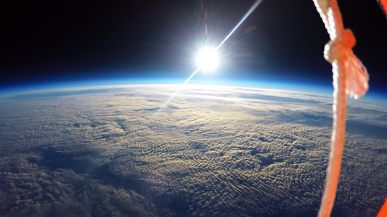 Student project captures images of the earth s curvature for Outer space leicester