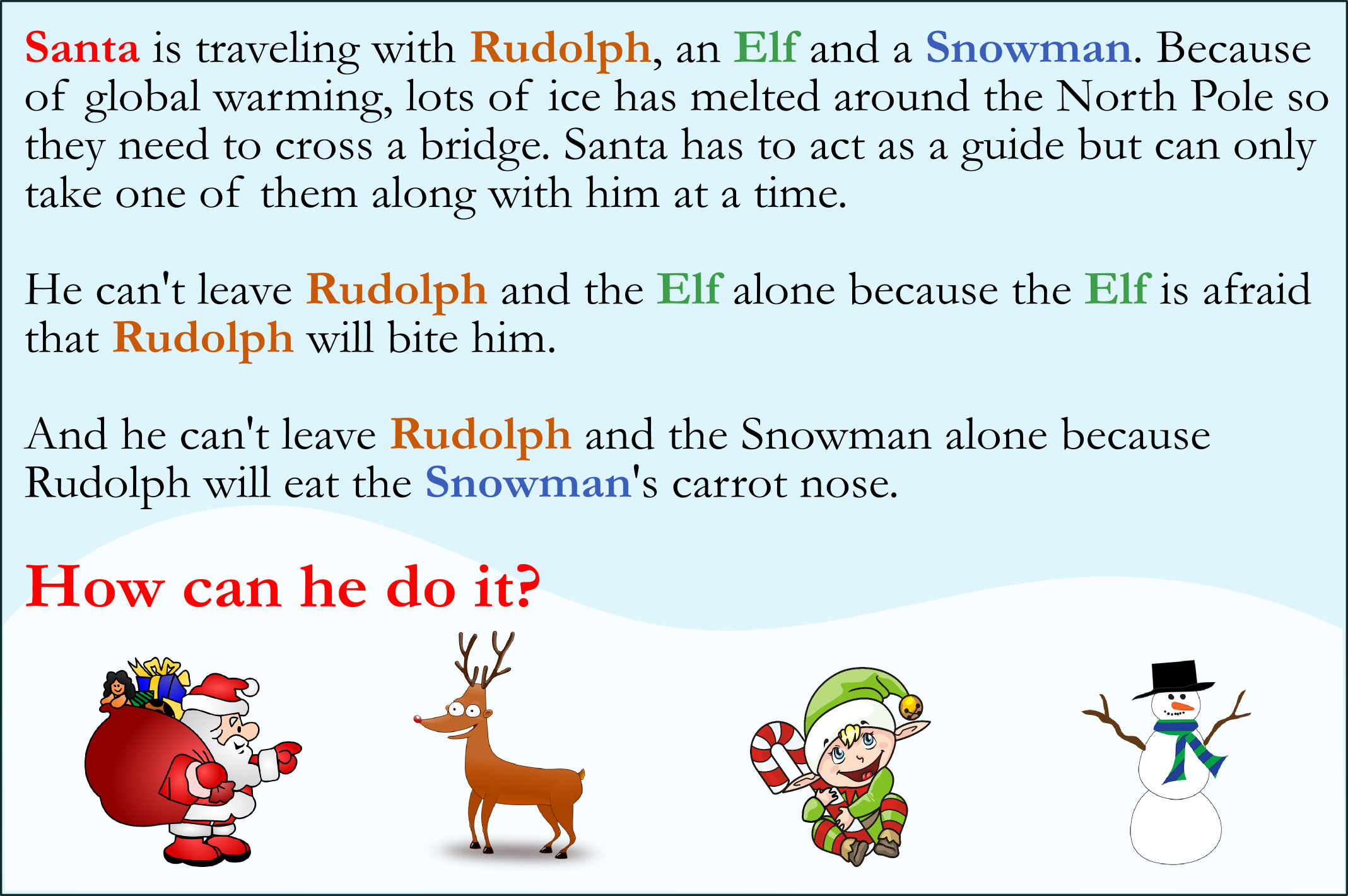 Can You Solve This Christmas Puzzle?   The Science Explorer