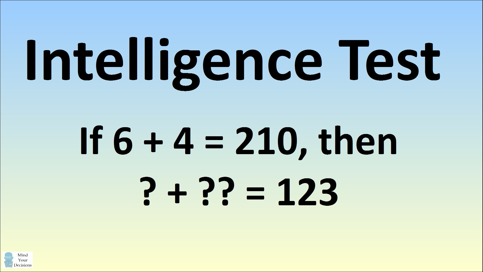 Can You Solve This Intelligence Test The Science Explorer
