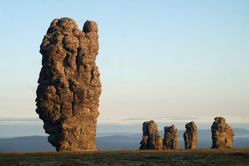 The Manpupuner Rock Formations, also known as the Seven Strong Men