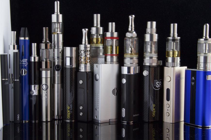 Different types of e-cigarettes