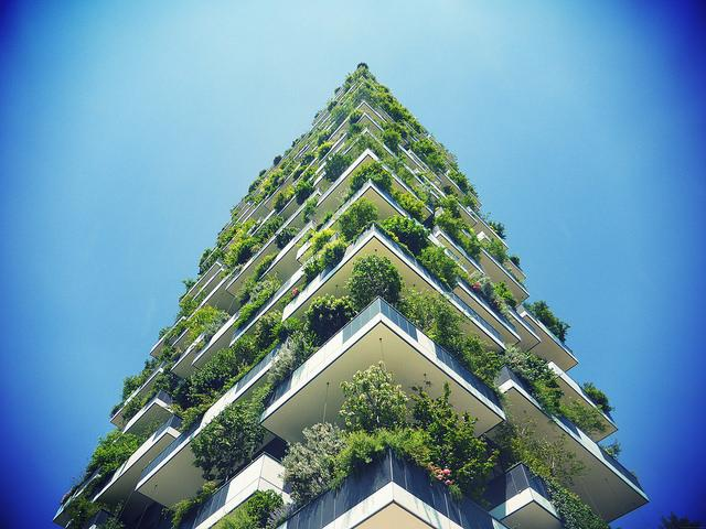 "Bosco Verticale (""vertical forest\"") in Milan"