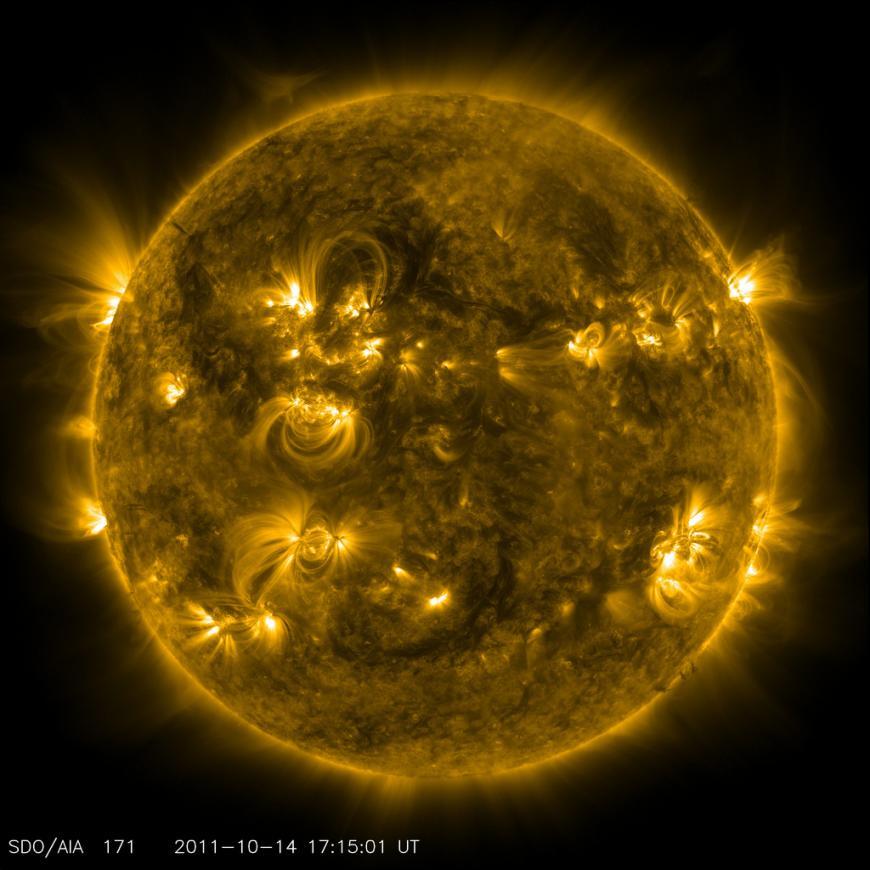 Solar activity, flares on the sun