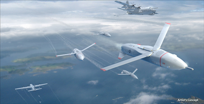 Artist's concept of a drone swarm for the Gremlins project