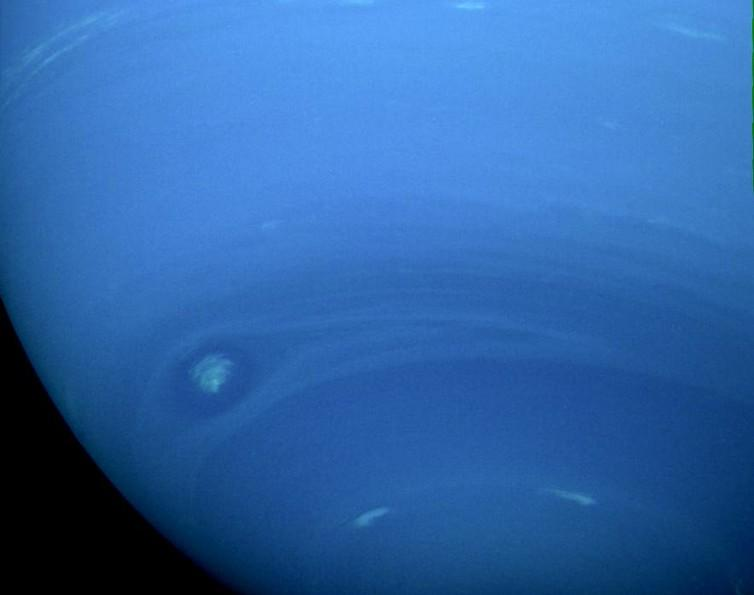 Neptune in natural color captured by Voyager 2