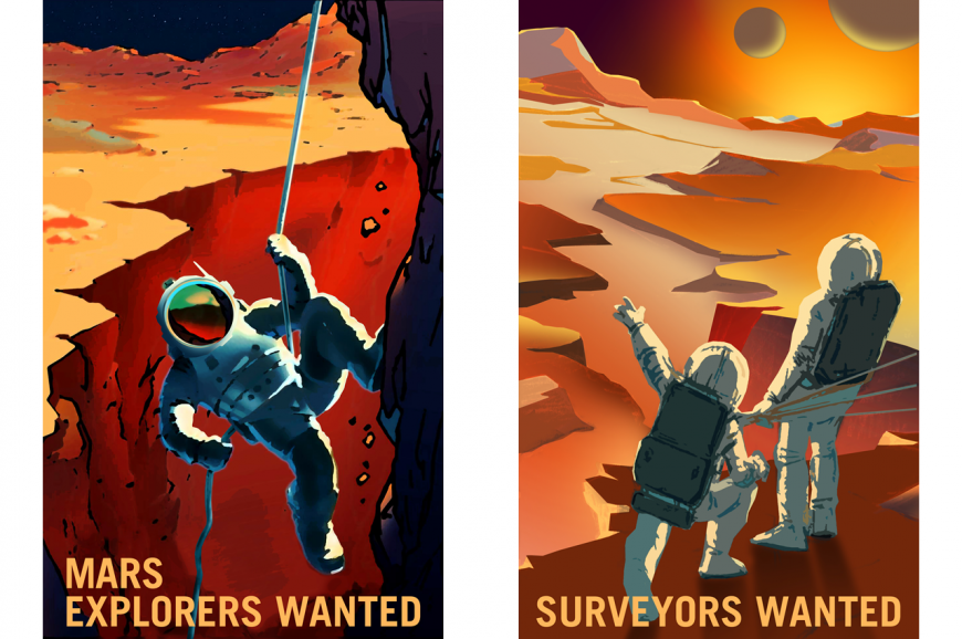 NASA's retro Mars recruitment posters