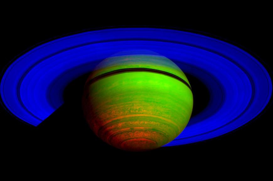 Saturn captured by Cassini orbiter