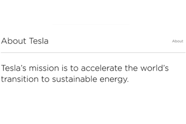 About Tesla | Tesla's mission is to accelerate the world's transition to sustainable energy.