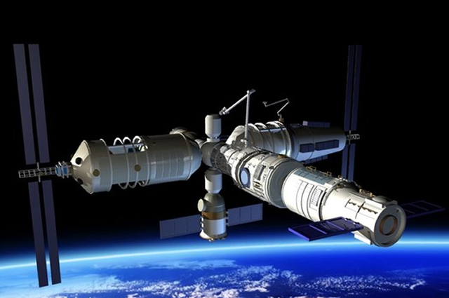 Tiangong-1, China's space station, in orbit