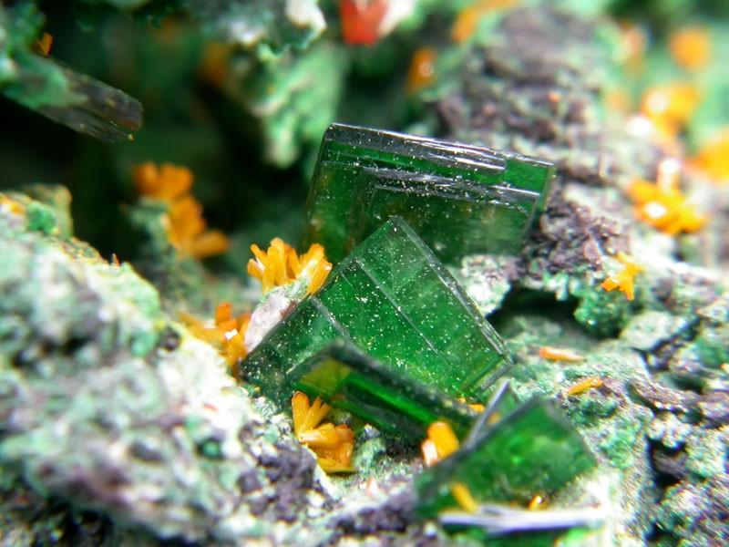 An emerald green gemstone