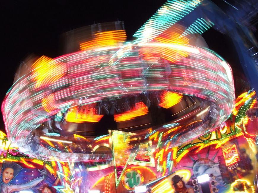 Merry-Go-Round ride at a fairground