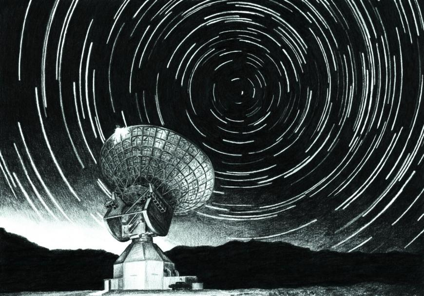 radar pointed at the starry sky