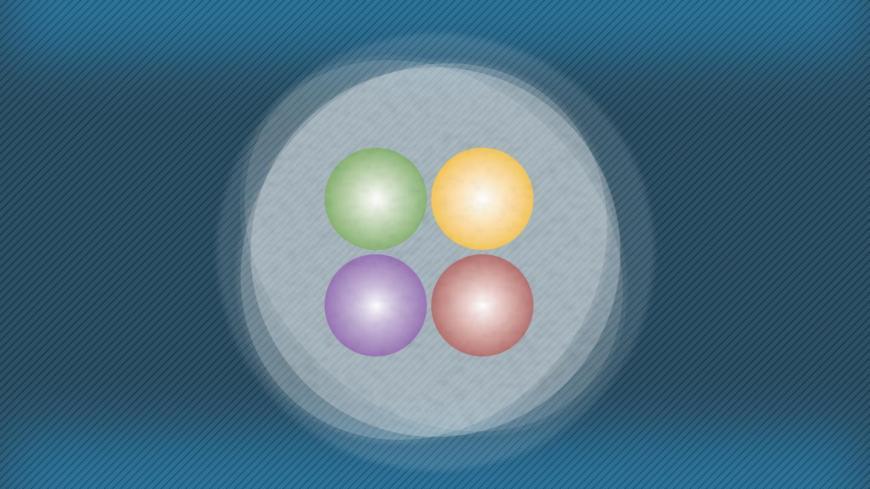 Diagram representing a tetraquark