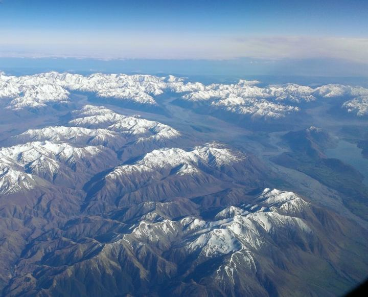 The Southern Alps in New Zealand
