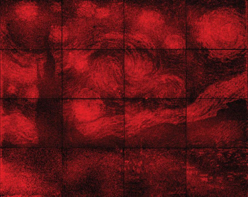 dime-sized DNA reproduction of Van Gogh's Starry Night