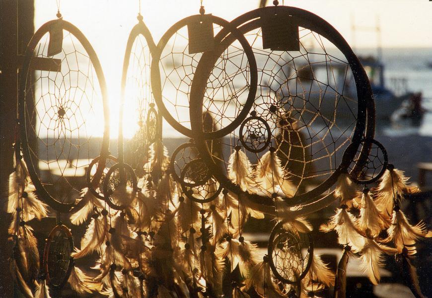 Dreamcatchers in the sun.