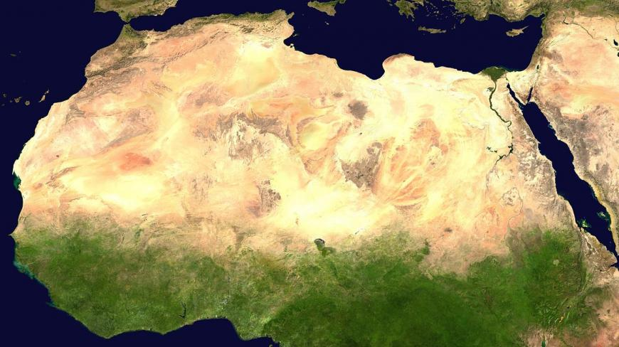 Satellite imagery of the Saharan desert