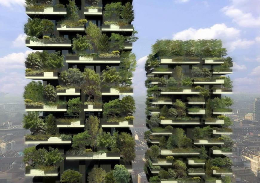 "Bosco Verticale (""vertical forest"") in Milan"