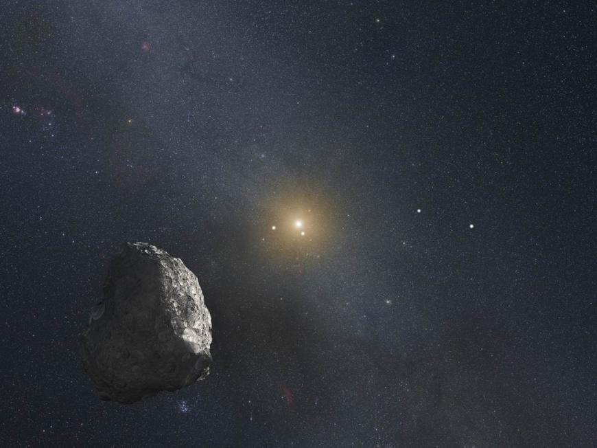 Concept art of a Kuiper Belt object