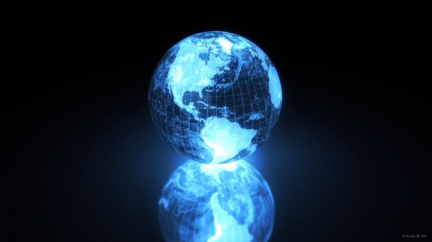 Another quick holographic Earth using Blender 2.71 with Cycles and post processing in Photoshop.
