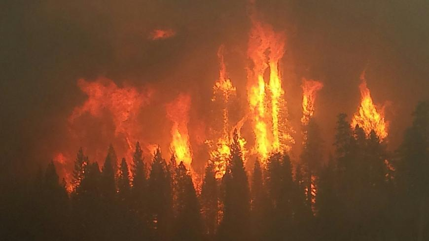 The King Fire, a forest fire from 2014