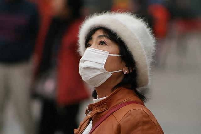 Polluted air in China