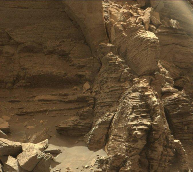 rock formations on mars