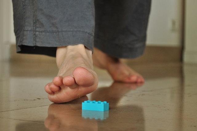 Stepping on LEGO