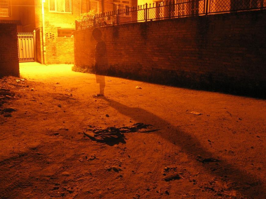 Ghost in the alleyway