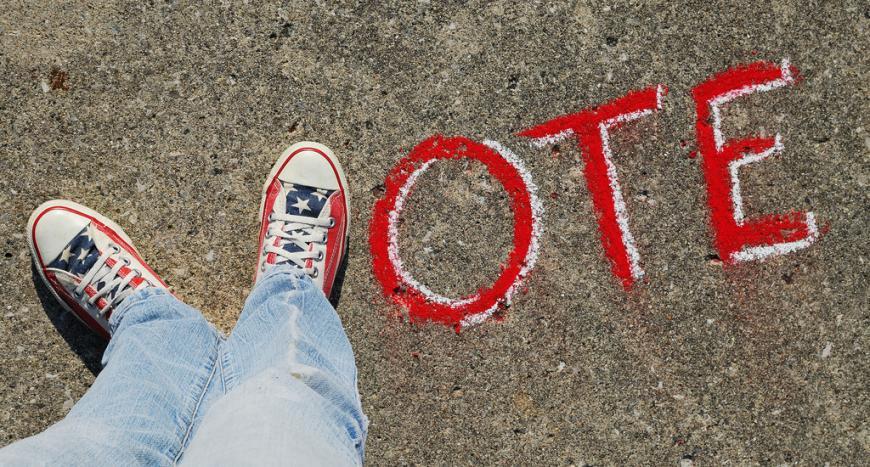 Vote, American politics. Converse, Sidewalk Chalk