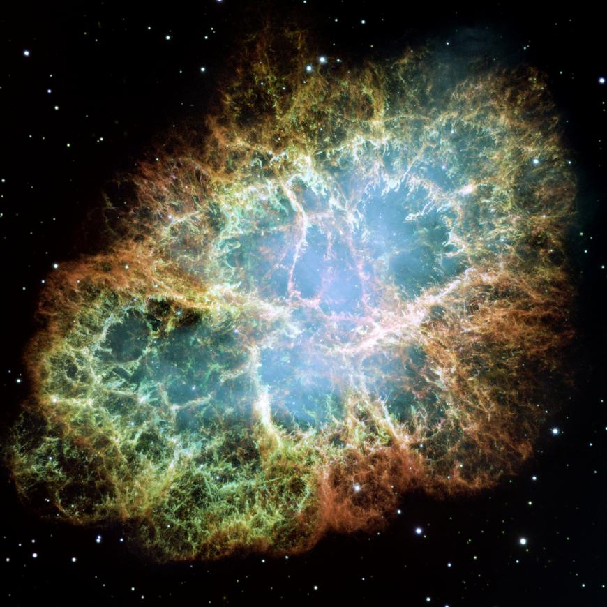 The crab nebula, a supernova remnant