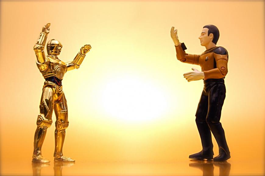Star Wars' C-3P0 versus Star Trek's Data