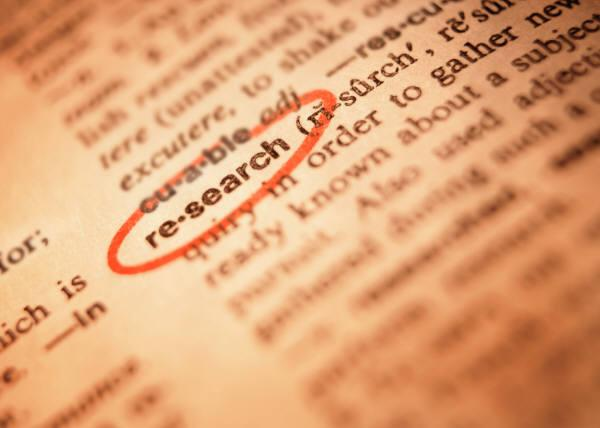 "The word ""research"" circled in a dictionary"