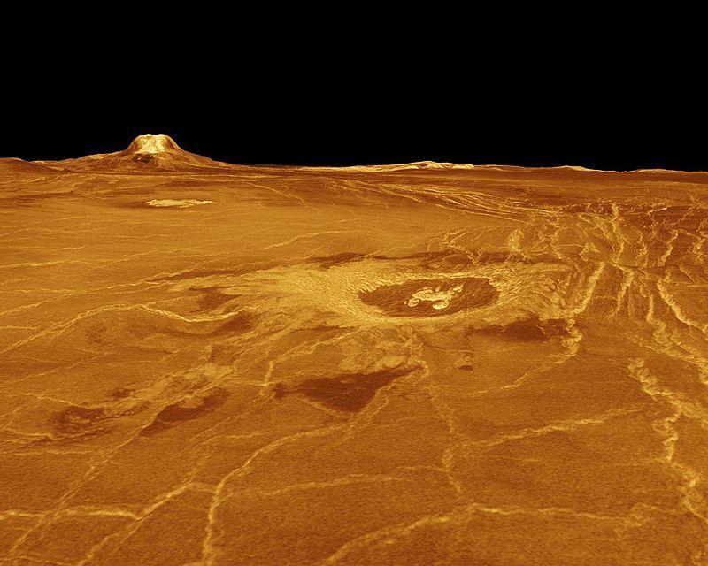 Venus - 3D Perspective View of Eistla Regio