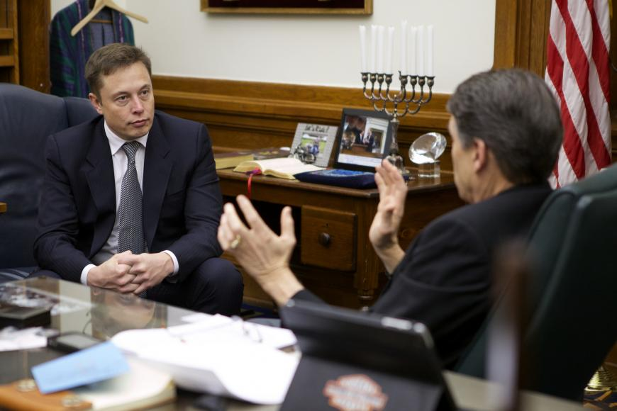 Elon Musk meets with Texas Governor Rick Perry