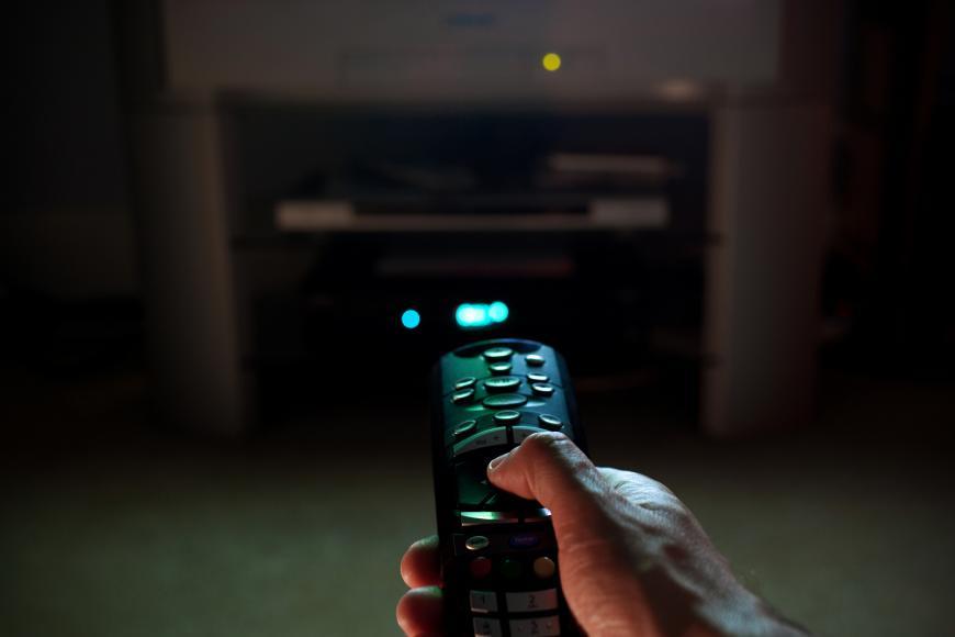 Remote control for a television