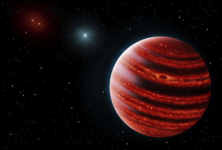 artist's concept of the newly discovered planet