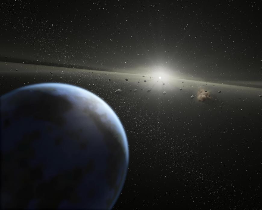Asteroid belt around a star