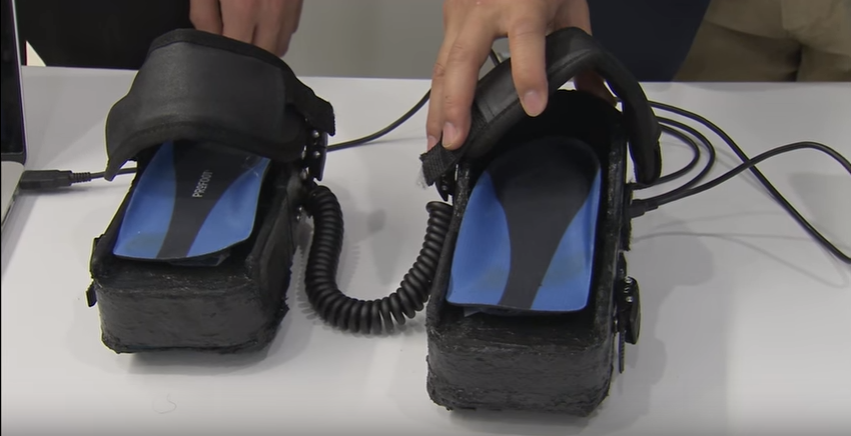 Video game controllers for feet