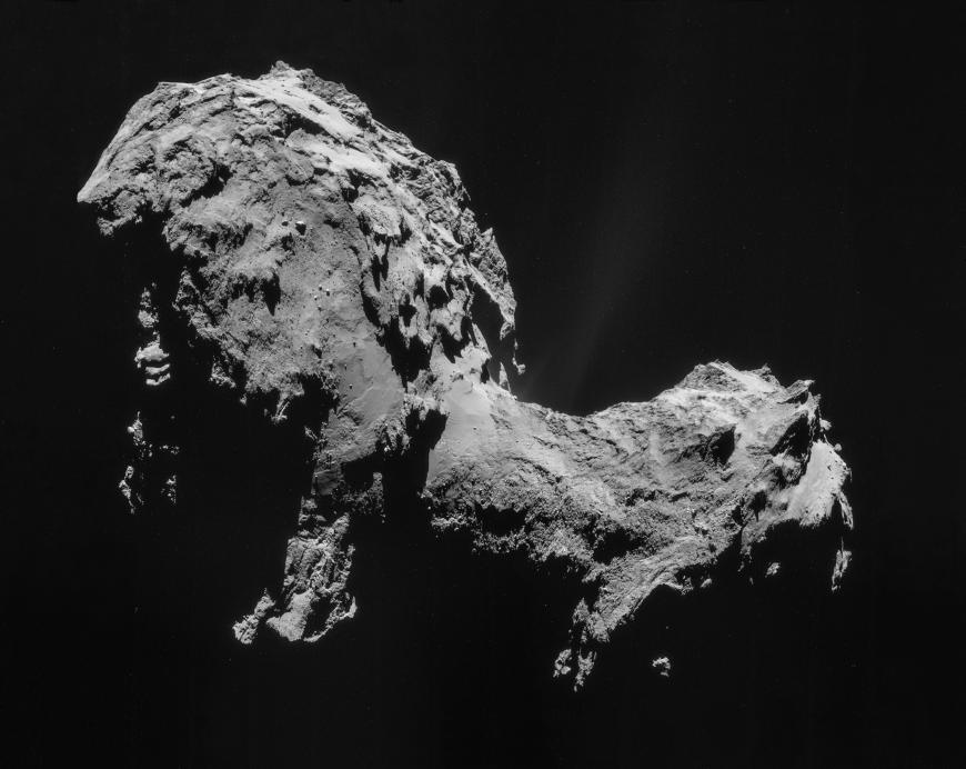 Comet 67P seen from the Rosetta spacecraft prior to the Philae landing.