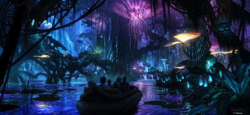 Artist's concept of Pandora, the Avatar-themed segment of Disney Parks