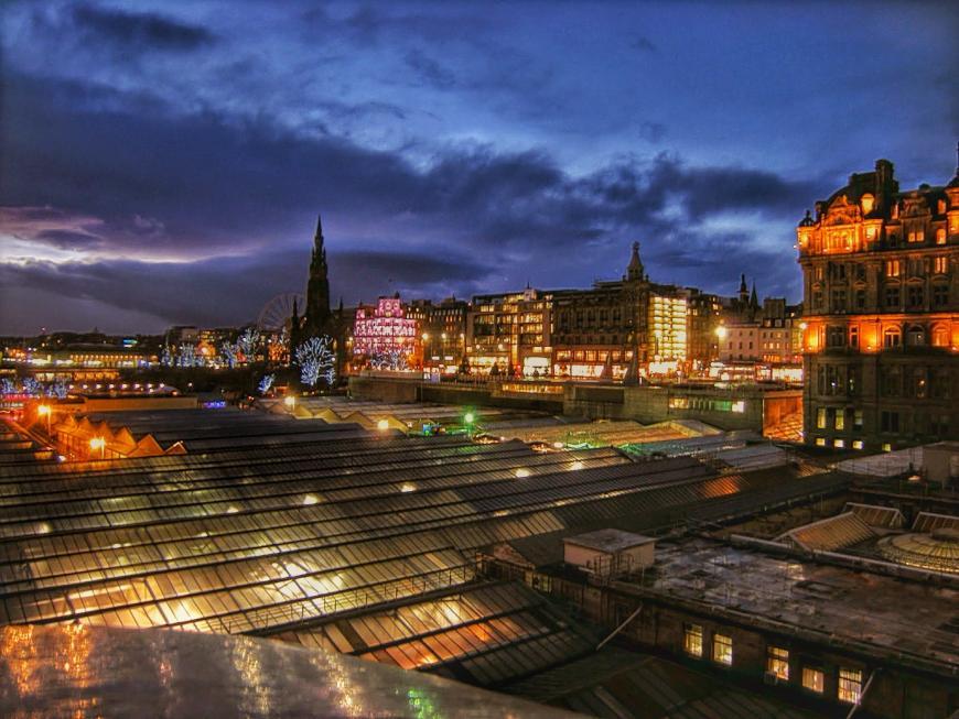 Edinburgh, Scotland at night