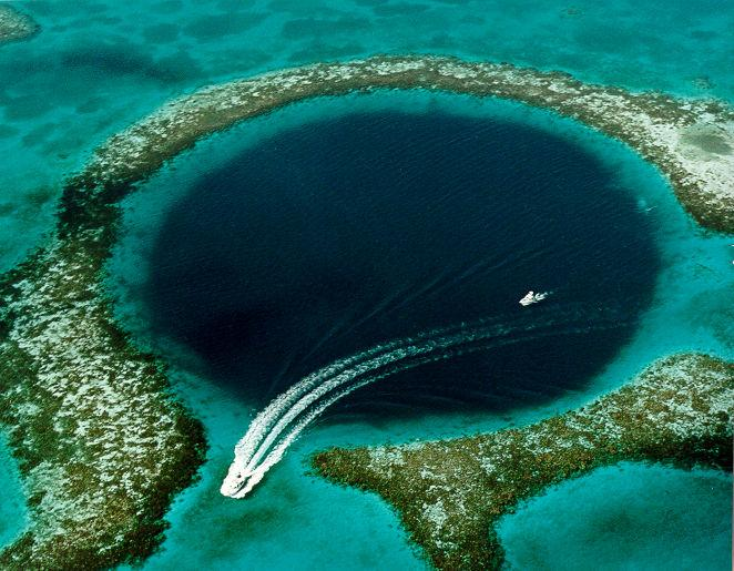 Great Blue Hole, world's deepest sinkhole in the South China Sea