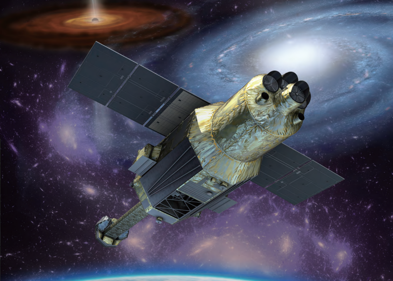 Artist's conception of Hitomi (ASTRO-H) in orbit
