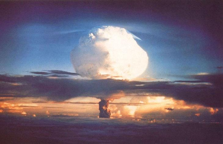 Ivy Mike, the world's first thermonuclear (hydrogen bomb) test, November 1, 1952