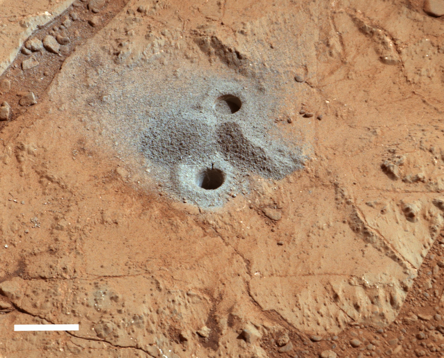 Veins on Mars show evidence of ancient lakes