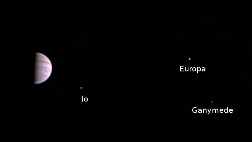 First photo taken by Juno after entering Jupiter's orbit
