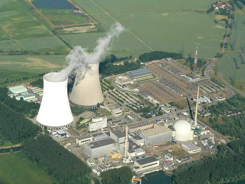 A man-made nuclear power plant (this one is in Philippsburg, Germany).