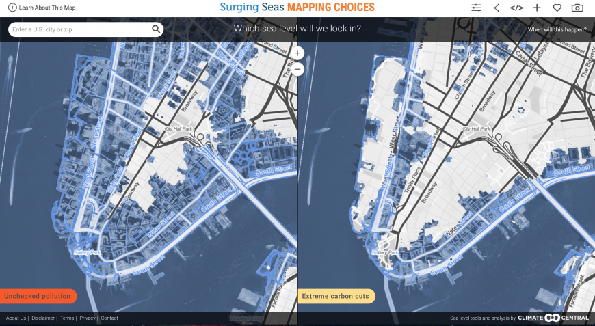 Map Shows Us Cities Drowning Under Rising Sea Levels The Science - Us-sea-level-map