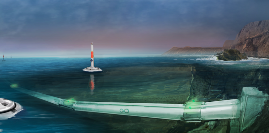 Hyperloop One underwater route